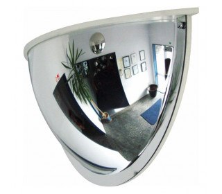 Moravia Panoramic 1/2 Dome 60cm 180 degrees 3 Way View Convex Wall Mirror