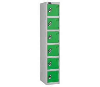 Probe 6 Door Combination Locking High Metal Locker green