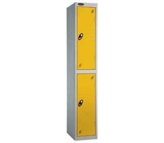 Probe 2 Door High Metal Locker Type P Combination Lock yellow