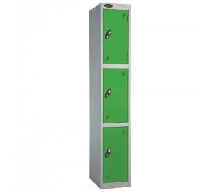 Probe 3 Door High Steel Storage Locker Padlock Hasp Lock - green door