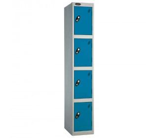 Probe 4 Door High Steel Storage Locker Padlock Hasp Lock - blue door