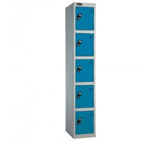 Probe 5 Door High Steel Storage Locker Padlock Hasp Lock - blue door