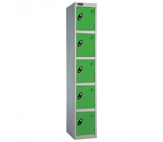 Probe 5 Door High Metal Locker Type L Electronic Lock green