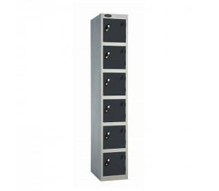 Probe 6 Door High Metal Locker Type L Electronic Lock black