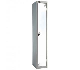 Probe 1 Door High Steel Storage Locker Padlock Hasp Lock - white door