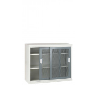 Steel Mesh Sliding Door Cabinet 1020x1220x460 - Bedford 84MD024