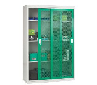 Steel Mesh Sliding Door Cabinet 1020x1830x460 - Bedford 84MD084