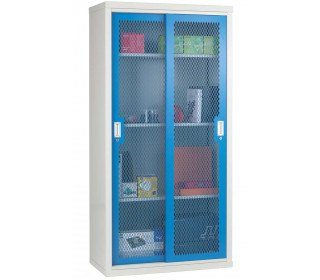 Steel Mesh Sliding Door Cabinet 1830x915x460- Bedford 84MD894