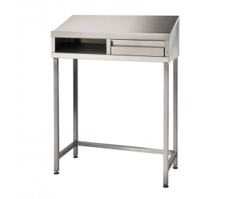 Stainless Steel 4 Leg Sloping Top Desk - Bedford 87SDL