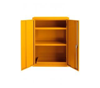 Bedford 88F294 Yellow Flammable 2 Door 1220H mm Cabinet - doors open