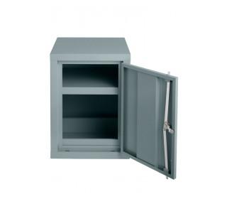 Bedford 88H644 COSHH Hazardous 610x459x459mm 1 Door Steel Cabinet - door open