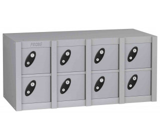 Probe MINIBOX 8 Door Electronic Locking Phone Locker silver grey