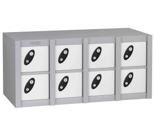 Probe MINIBOX 8 Door Combination Locking Phone Locker white