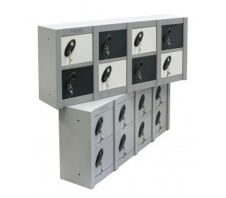 Probe Minibox Mobile Phone Wall/Stacking Locker 8 Doors - showing 2 x Mini 8 Door lockers