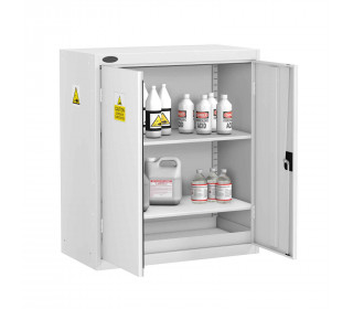 Probe AA-T Acid Alkali Corrosive Low Two Door Steel Cabinet - doors open