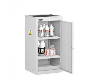 Probe AA-UD Acid Alkali Small Steel Cabinet with Dished Top - door open