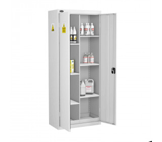 Probe AA-S Acid Alkali Corrosive 8 Compartment Steel Cabinet - doors open