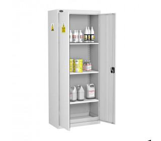 Probe AA-R Acid Alkali High Double Door Steel COSHH Cabinet - doors open