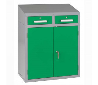 Bedford 88BDU2 Welded 2 Drawer Steel Sloping Top Desk Cabinet