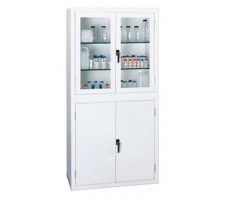Bedford 88S894 Viewcab Split Steel Safety Glass Door Cabinet