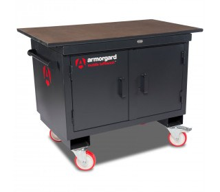 Mobile Workbench - Armorgard Mobile TuffBench - Closed
