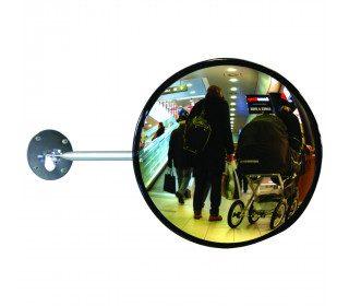 Dancop EC-US-30 Telescopic Arm Convex Wall Mirror - retail use