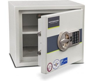 Burton Eurovault Aver 1E Police Approved Security Safe - door ajar