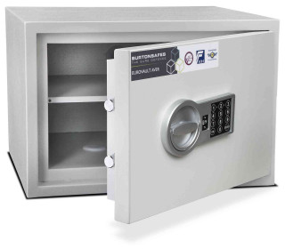 Burton Aver 2E S2 Insurance Approved Electronic Security Safe - door ajar