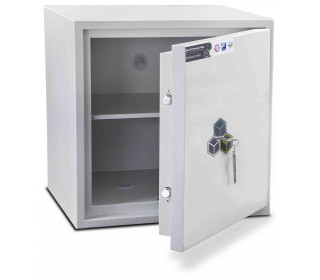 Burton Aver 3K Insurance Approved Key Locking Security Safe - door ajar