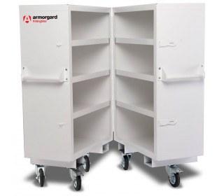 Armorgard FittingStor FC5 Heavy Duty Mobile Site Cabinet ajar
