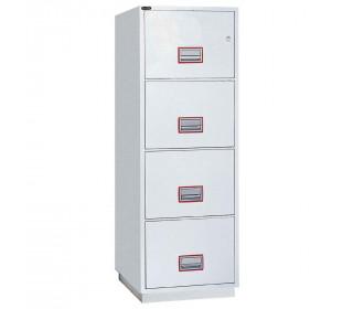 Securikey FCFF4DFCK 4-Drawer Fireproof Filing Cabinet 60 minutes