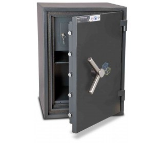 Burton Firesec 10/60 2K Key Locking Security Fireproof Safe - door ajar