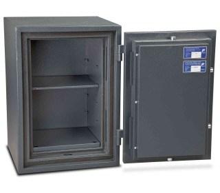 Burton Firesec 4/60-LK Large Key Locking Security Fireproof Safe - door open