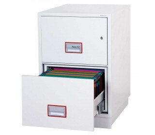"Phoenix 31"" Extra deep Vertical Firefile FS2262K 2-Dr Key Lock Filing Cabinet"