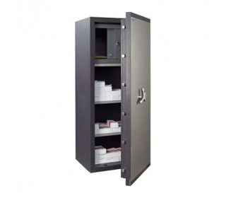Chubbsafes Proguard 350E slight open showing content of safe