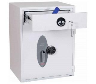 Police Approved £10,000 Cash Deposit Safe - Phoenix Diamond HS1192ED Electronic - Drawer Open