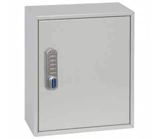 Phoenix KC0501E Closed open showing adjustable hook bars, key tags, key rings, and removable control indexes