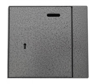 Key Secure 3 Brick Alms Box for Wall fitting - closed door