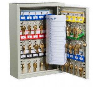 KeySecure KS30 Key Storage Wall Fixed Cabinet 30 Keys open