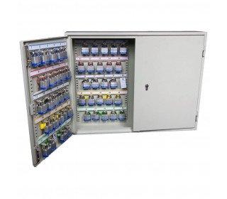 Deep Security Padlock Cabinet Euro Lock 100 Hooks - Key Secure KSE100P - 1 door open