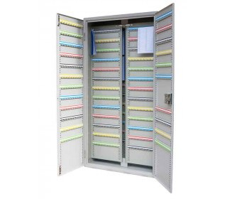 Key Secure KSE1500 Security Key Cabinet 1500 Hooks doors open and key panels in closed position