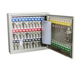 Deep Security Key Cabinet 50 Hooks - Key Secure KSE50D - fully open