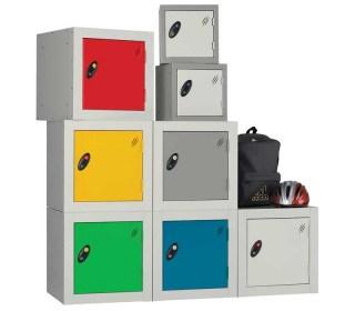 Probe 1 Door Key Locking Modular Small Steel Cube Lockers are ideal for primary schools