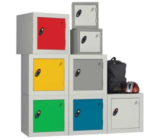 Probe 1 Door Padlock Latch Locking Small Modular Cube Lockers are ideal for primary schools
