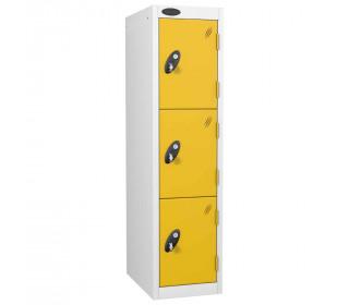 Probe Junior School 3 Door Lockers - Yellow Doors
