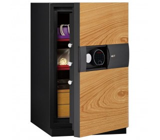 Phoenix Next LS7003FO Luxury Oak Panel 60 mins Fire Security Safe - door ajar
