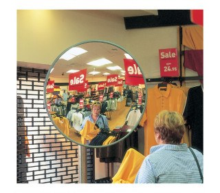Securikey M18038J Interior Acrylic Convex Wall Mirror 450mm - Security Shop Use