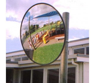 Securikey Standard Exterior Convex Mirror 900mm with Optional Post Mounting