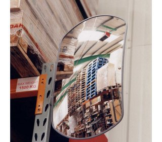 Rectangular Interior Mirror - Securikey Wide Angle 600 x 400 mm - Vertical