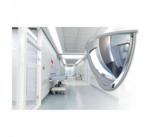 Securikey M18535H 1/2 Dome Convex Wall Mirror 600mm in a hospital